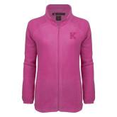 Ladies Fleece Full Zip Raspberry Jacket-K