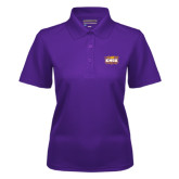 Ladies Purple Dry Mesh Polo-Prairie Fire Logo