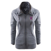 Ladies Sport Wick Stretch Full Zip Charcoal Jacket-K