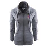 Ladies Sport Wick Stretch Full Zip Charcoal Jacket-K