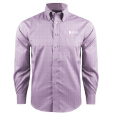 Red House Purple Plaid Non Iron Long Sleeve Shirt-Institutional Logo