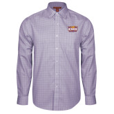 Red House Purple Plaid Long Sleeve Shirt-Prairie Fire Logo