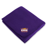 Purple Arctic Fleece Blanket-Prairie Fire Logo