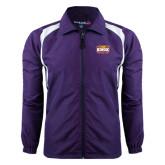 Colorblock Purple/White Wind Jacket-Prairie Fire Logo