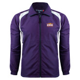Colorblock Purple/White Wind Jacket-Prairie Fire Logo