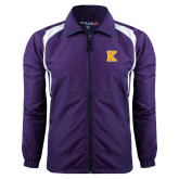Colorblock Purple/White Wind Jacket-K