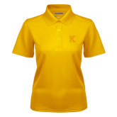 Ladies Gold Dry Mesh Polo-K
