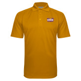 Gold Textured Saddle Shoulder Polo-Prairie Fire Logo