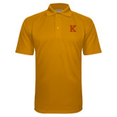 Gold Textured Saddle Shoulder Polo-K