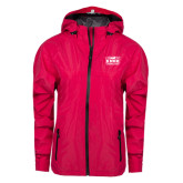 Ladies Dark Fuchsia Waterproof Jacket-Prairie Fire Logo