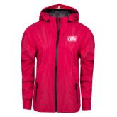 Ladies Dark Fuchsia Waterproof Jacket-Prairie Fire Logo