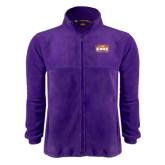 Fleece Full Zip Purple Jacket-Prairie Fire Logo