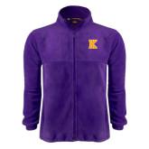 Fleece Full Zip Purple Jacket-K