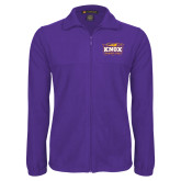 Fleece Full Zip Purple Jacket-Prairie Fire Logo