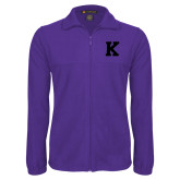 Fleece Full Zip Purple Jacket-K