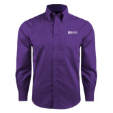 Red House Purple Long Sleeve Shirt-Institutional Logo
