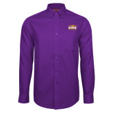 Red House Purple Long Sleeve Shirt-Prairie Fire Logo