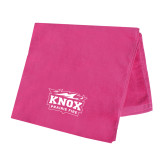 Pink Beach Towel-Prairie Fire Logo