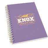 Clear 7 x 10 Spiral Journal Notebook-Prairie Fire Logo