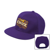 Purple Flat Bill Snapback Hat-Prairie Fire Logo