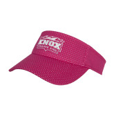 Pink Athletic Mesh Visor-Prairie Fire Logo