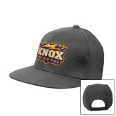 Steel Grey Flat Bill Snapback Hat-Prairie Fire Logo