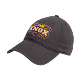 Steel Grey Twill Unstructured Low Profile Hat-Prairie Fire Logo