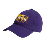 Purple Twill Unstructured Low Profile Hat-Prairie Fire Logo