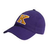 Purple Twill Unstructured Low Profile Hat-K