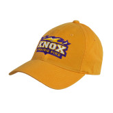 Gold Twill Unstructured Low Profile Hat-Prairie Fire Logo
