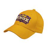 Gold Heavyweight Twill Pro Style Hat-Prairie Fire Logo