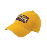 Gold OttoFlex Unstructured Low Profile Hat-Prairie Fire Logo