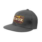 Charcoal Flexfit Flat Bill Pro Style Hat-Prairie Fire Logo