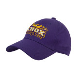 Purple Heavyweight Twill Pro Style Hat-Prairie Fire Logo