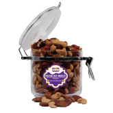 Deluxe Nut Medley Round Canister-Prairie Fire Logo