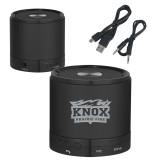 Wireless HD Bluetooth Black Round Speaker-Prairie Fire Logo Engraved