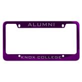 Alumni Metal Purple License Plate Frame-Alumni