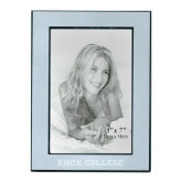 Silver Two Tone 5 x 7 Vertical Photo Frame-Knox College Flat Engraved