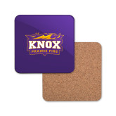 Hardboard Coaster w/Cork Backing-Prairie Fire Logo