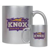 11oz Silver Metallic Ceramic Mug-Prairie Fire Logo