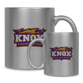 11oz Silver Metallic Ceramic Mug-Prairie Fire Logo