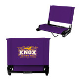Stadium Chair Purple-Prairie Fire Logo