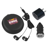 3 in 1 Black Audio Travel Kit-Prairie Fire Logo