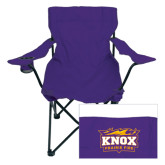 Deluxe Purple Captains Chair-Prairie Fire Logo