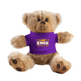 Plush Big Paw 8 1/2 inch Brown Bear w/Purple Shirt-Prairie Fire Logo