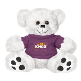 Plush Big Paw 8 1/2 inch White Bear w/Purple Shirt-Prairie Fire Logo