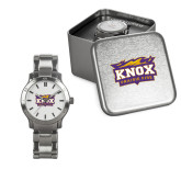 Ladies Stainless Steel Fashion Watch-Prairie Fire Logo