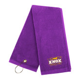 Purple Golf Towel-Prairie Fire Logo