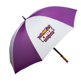Purple/White Umbrella-Knox College Logo