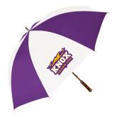 64 Inch Purple/White Umbrella-Prairie Fire Logo